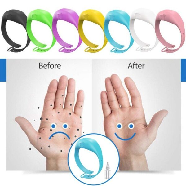 Wristband Hand Dispenser - Portable Adjustable Dispenser Bracelet