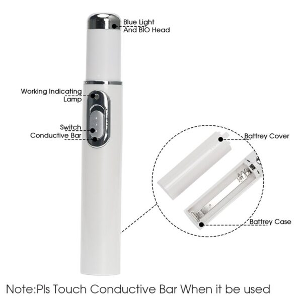 Portable Wrinkle Scar Acne Remover Device Powerful Blue Light Therapy Pen Spider Vein Blu-ray acne pen Eye Skin Care Tool dfdf