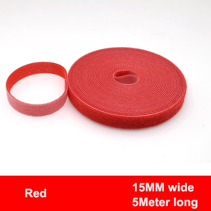 5Meter/Roll 15/20mm Color Velcros Self Adhesive Fastener Tape Reusable Strong Hooks Loops Cable Tie Magic tape DIY Accessories
