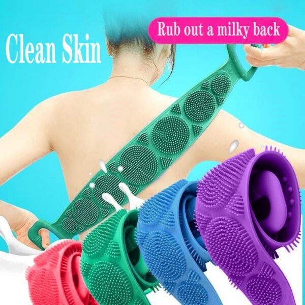Magic Silicone Bath Towels for Rubbing Back & Body Massage During Shower